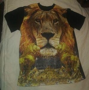 Lot 29 Gold Lion Mesh Tee Shirt